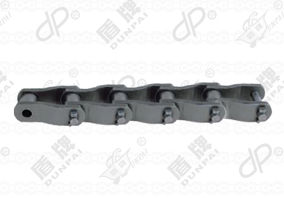 Heavy duty cranked-link transmission chains